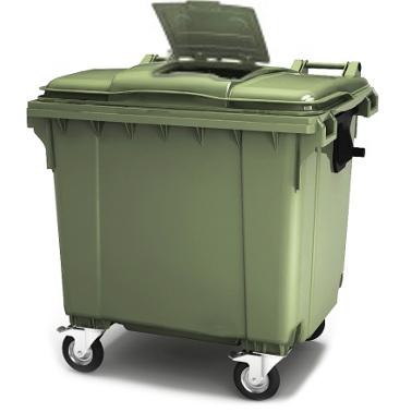 Мусорный контейнер 1100 литров сдополнительным люком