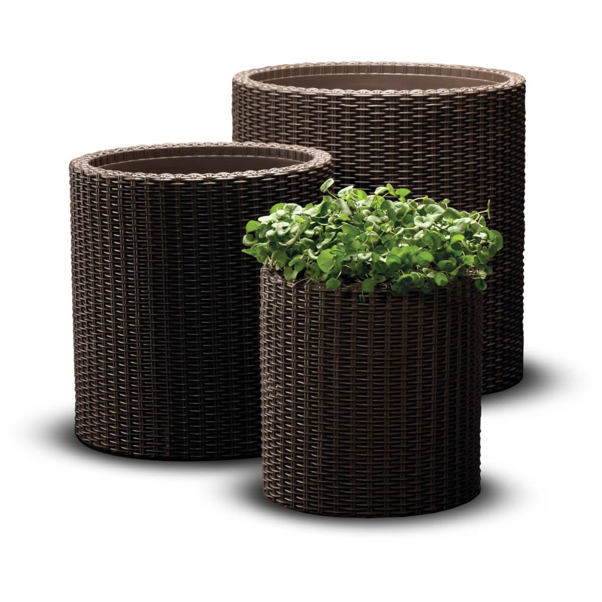 Комплект из трёх кашпо Cylinder Planters Set