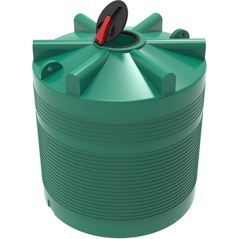 Емкость ЭВЛ 5000 зеленая с откидной крышкой