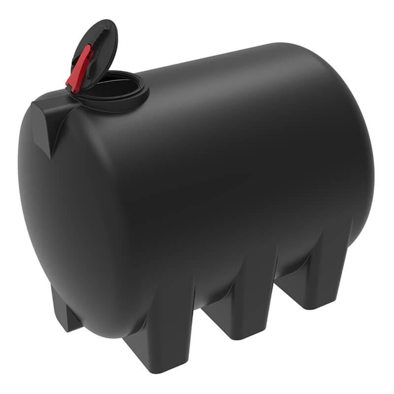 Емкость H 5000 черная с откидной крышкой