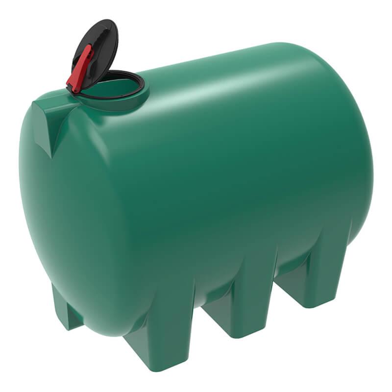 Емкость H 5000 зеленая с откидной крышкой