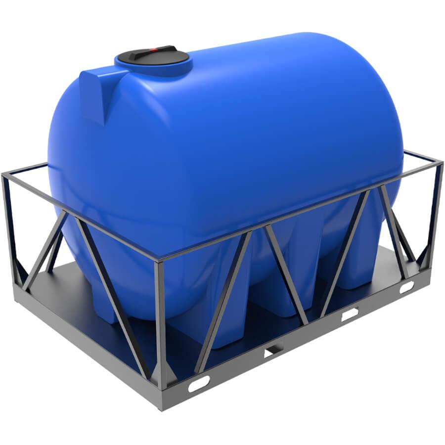 Емкость H 5000 в обрешетке синяя