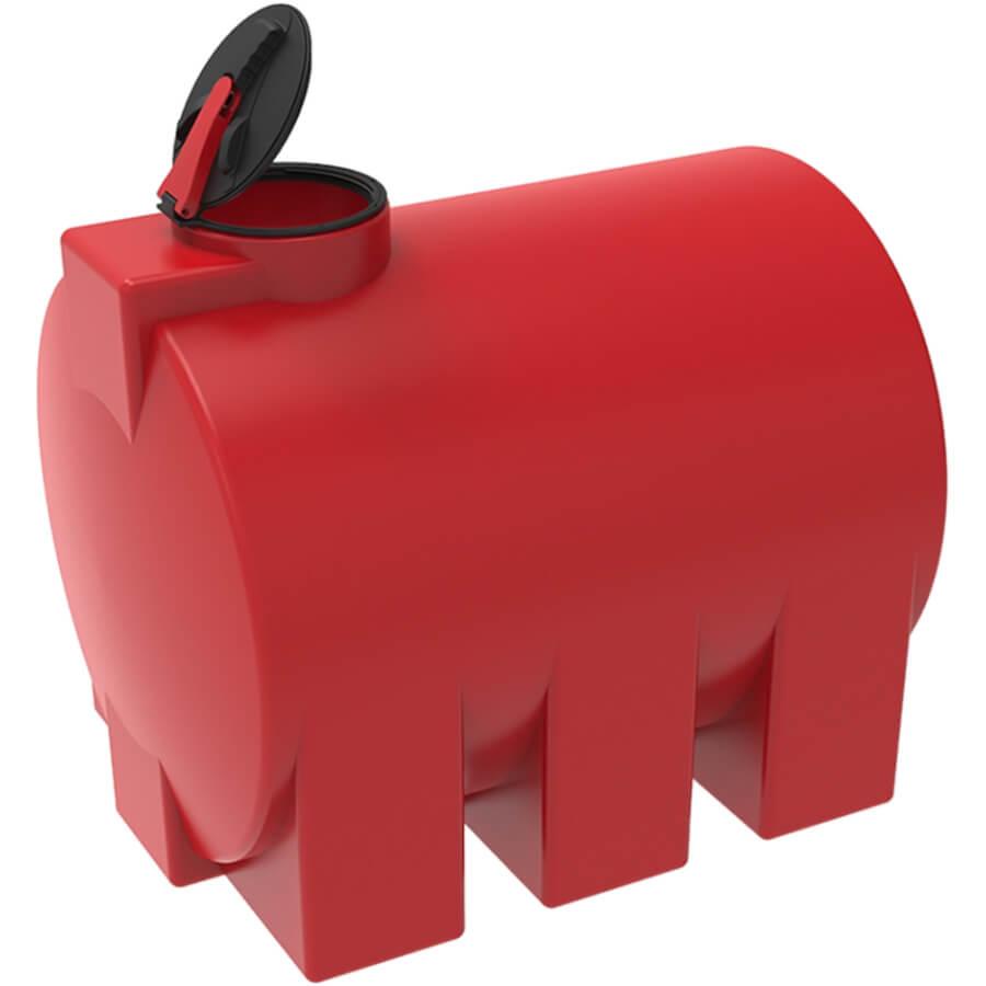 Емкость КАС 3000 ЭВГ красная с откидной крышкой