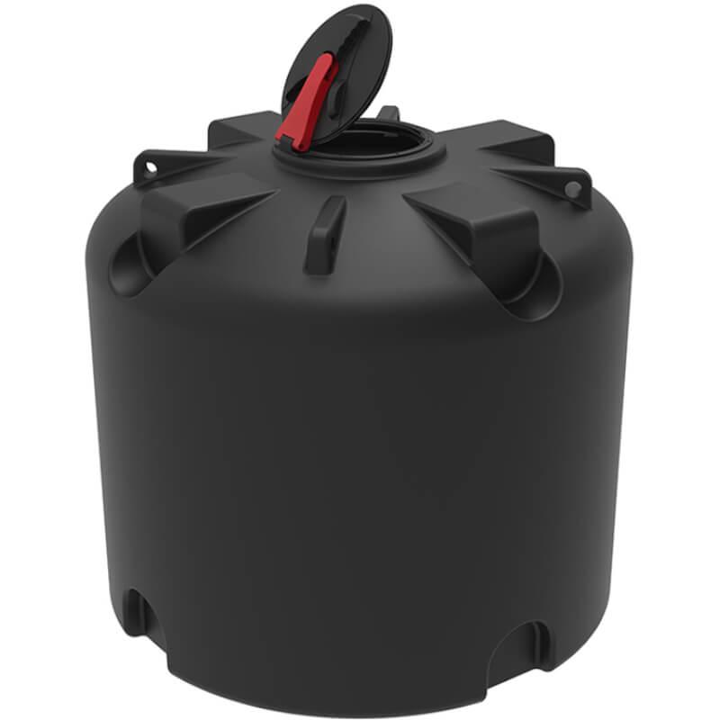 Емкость TR 3000 черная с откидной крышкой