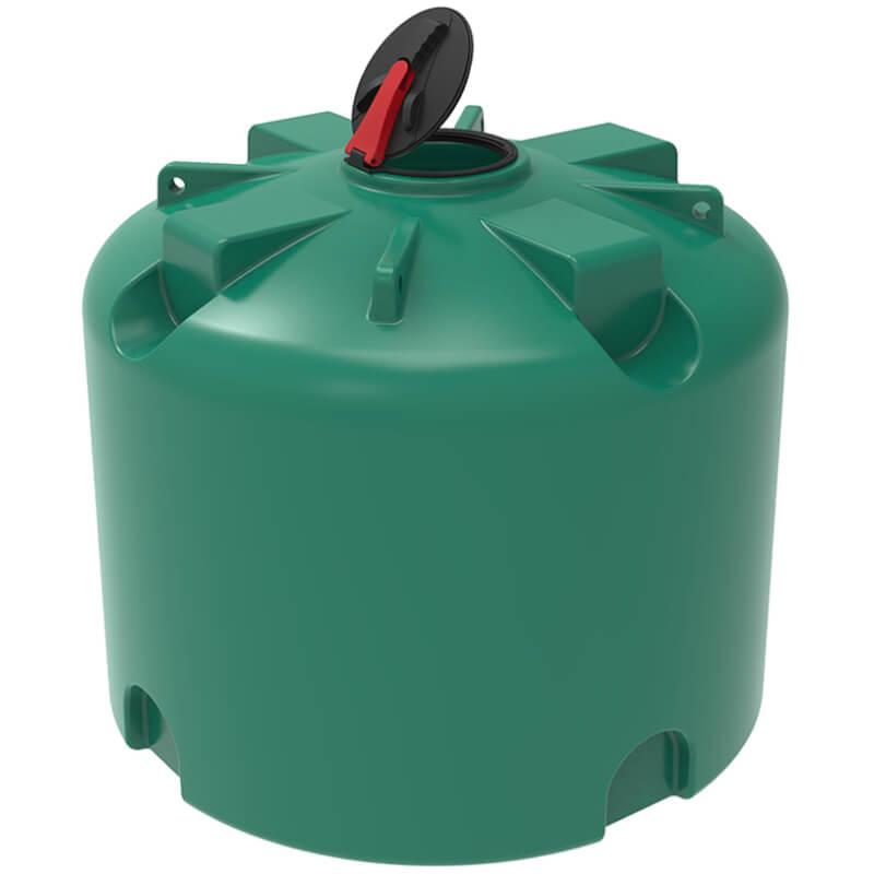 Емкость TR 4500 зеленая с откидной крышкой